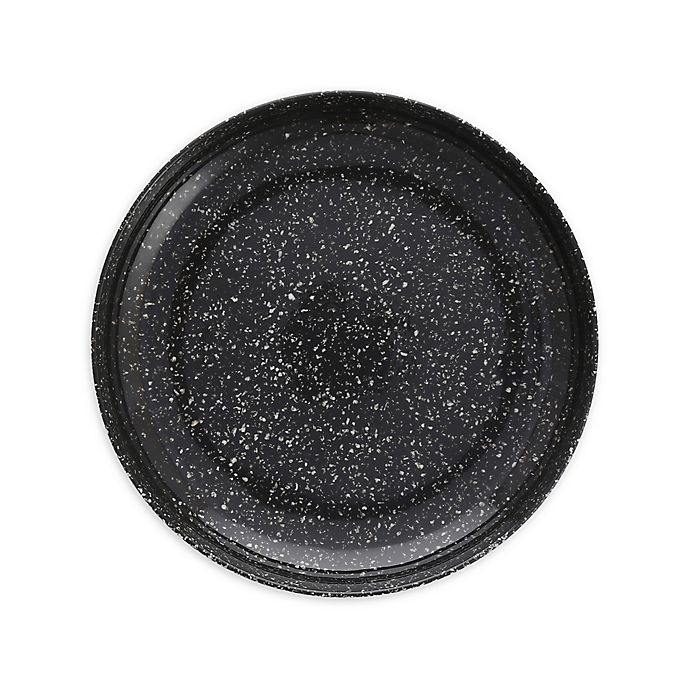Alternate image 1 for Camp 9-Inch Coupe Melamine Plates in Charcoal (Set of 6)