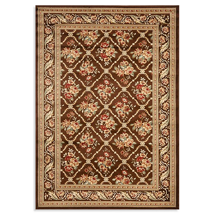 Alternate image 1 for Safavieh Courtland 8-Foot 9-Inch x 12-Foot Room Size Rug in Brown
