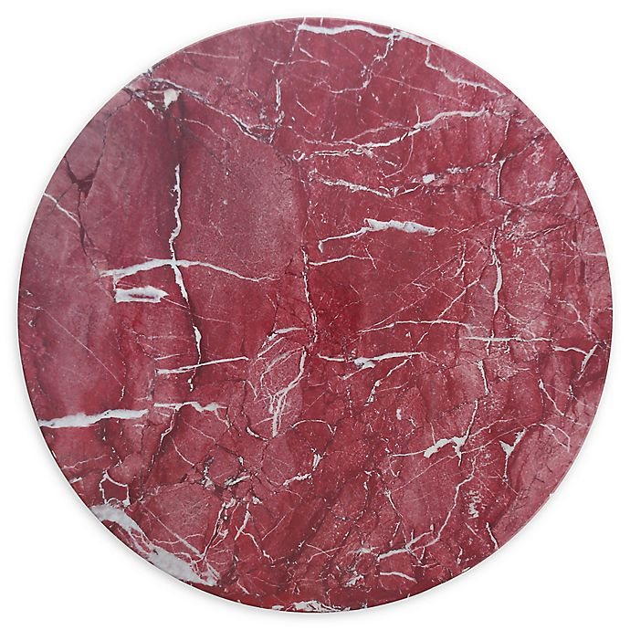 Alternate image 1 for Palace Rosso 13-Inch Coupe Melamine Round Platters (Set of 4)