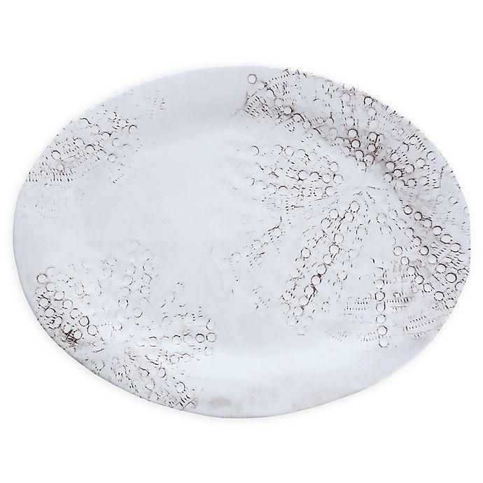 Alternate image 1 for Sanibel 15-Inch Melamine Oval Platters in Sail White (Set of 4)