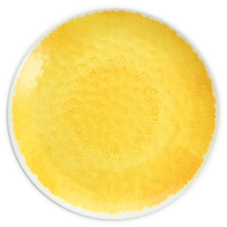 Flora 11 Inch Coupe Melamine Plates In Yellow Set Of 12 Bed Bath Beyond