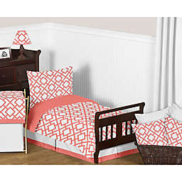 Diamond Print Sweet Jojo Baby Crib Or Toddler Bed Fitted Sheet For Coral Set