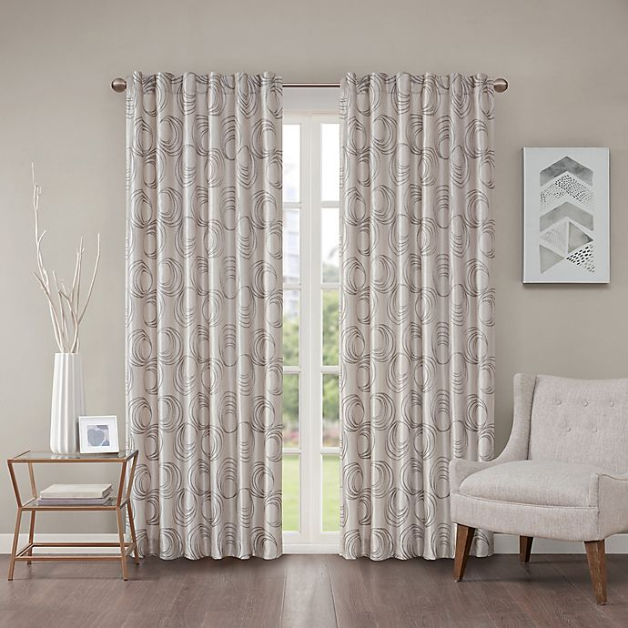 Alternate image 1 for Regency Heights Cosma 84-Inch Rod Pocket/Back Tab Window Curtain Panel in Grey/Taupe