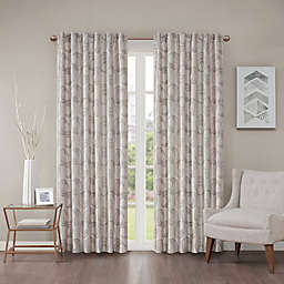 Regency Heights Cosma 108-Inch Rod Pocket/Back Tab Window Curtain Panel in Grey/Taupe