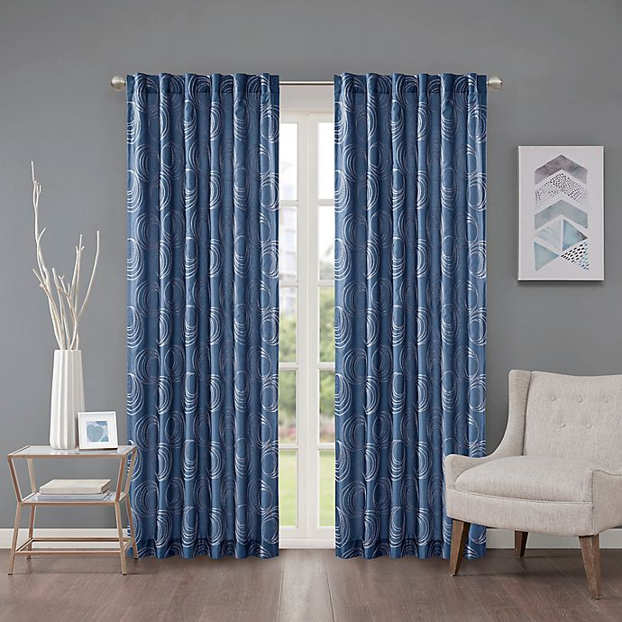Alternate image 1 for Regency Heights Cosma 63-Inch Rod Pocket/Back Tab Window Curtain Panel in Sapphire