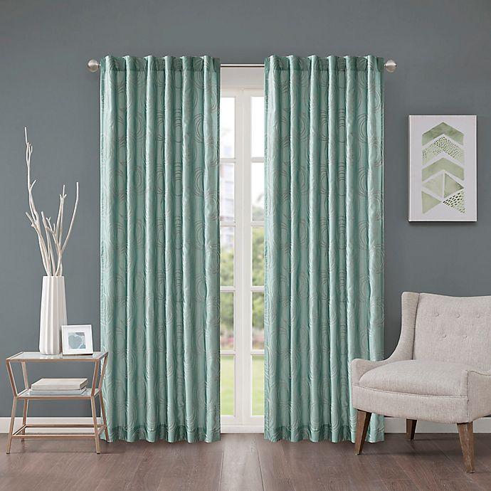Alternate image 1 for Regency Heights Cosma 108-Inch Rod Pocket/Back Tab Window Curtain Panel in Aqua