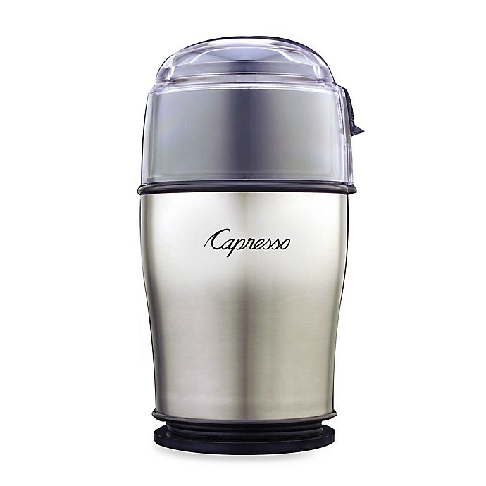 Alternate image 1 for Capresso® Cool Grind PRO Coffee and Spice Grinder in Stainless Steel