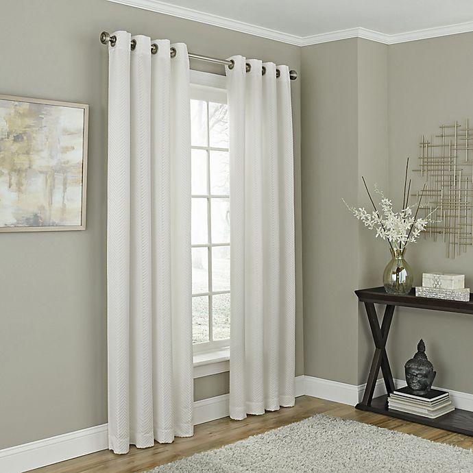 Alternate image 1 for Chesterfield 108-Inch Grommet Room Darkening Window Curtain Panel in White