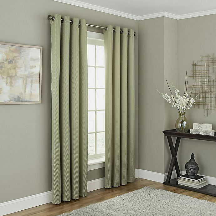 Alternate image 1 for Chesterfield 63-Inch Grommet Room Darkening Window Curtain Panel in Green
