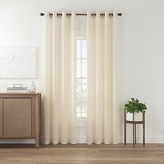 Alternate image 1 for Maroc 84-Inch Grommet Top Window Curtain Panel in Ivory