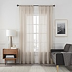 Arden Sheer 84-Inch Rod Pocket Window Curtain Panel in Sand