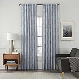 Arden Embroidery 63-Inch Rod Pocket/Back Tab Window Curtain Panel in Blue Haze (Single)