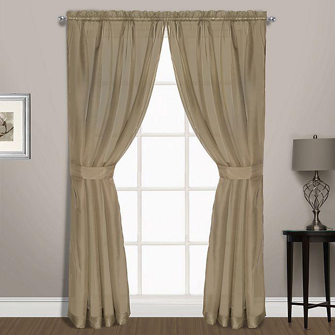 Alternate image 1 for Summit Sheer Voile 72-Inch Rod Pocket Window Curtain Panel Pair in Mushroom