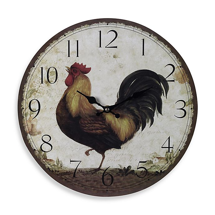 Kitchen Wall Decor Bed Bath And Beyond: Large Rooster Wall Clock