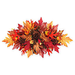 National Tree Company® 24-Inch Battery-Operated Maple Centerpiece with White LED Lights