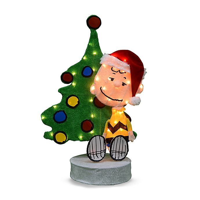 Alternate image 1 for Peanuts™ 36-Inch Pre-Lit 2D Charlie Tree