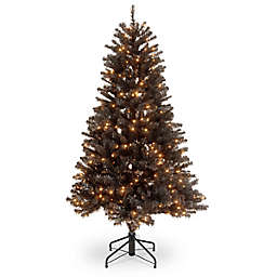 National Tree Company 4.5' North Valley Black Spruce Christmas Tree with Clear Lights