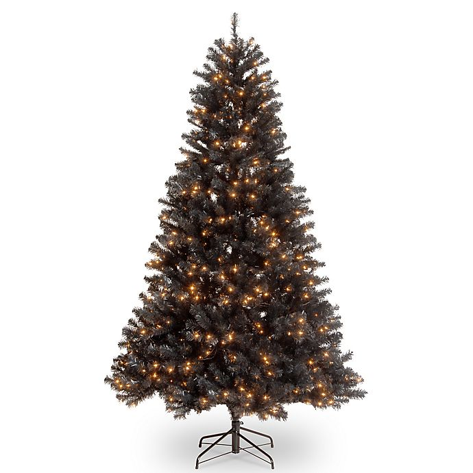 Alternate image 1 for National Tree Company 7' North Valley Black Spruce Christmas Tree with Clear Lights