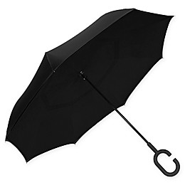 ShedRain® UnbelievaBrella™ Reverse Stick Umbrella in Black