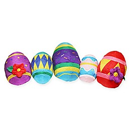 Northlight 10-Foot Inflatable Illuminated Easter Eggs Lawn Decocation
