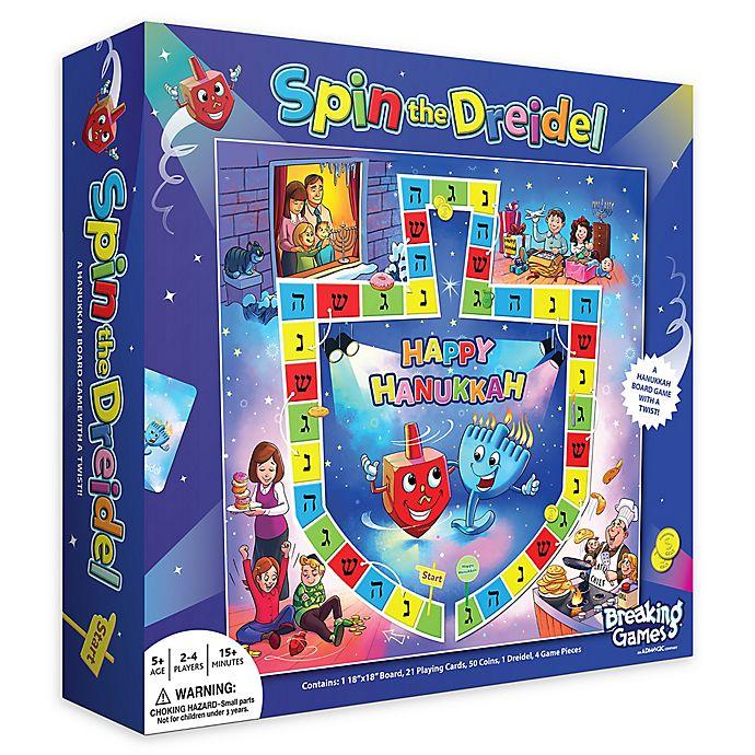Alternate image 1 for Hanukkah Spin the Dreidel Board Game