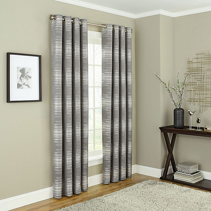 Alternate image 1 for Payson 108-Inch Grommet 100% Blackout Window Curtain Panel in Taupe