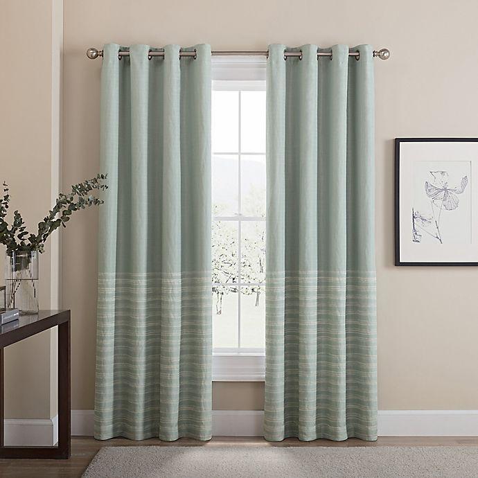 Alternate image 1 for Tremor 63-Inch Grommet 100% Blackout Window Curtain Panel in Aqua