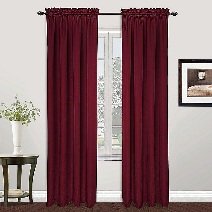 Alternate image 1 for Metro 72-Inch Rod Pocket Window Curtain Panel in Burgundy