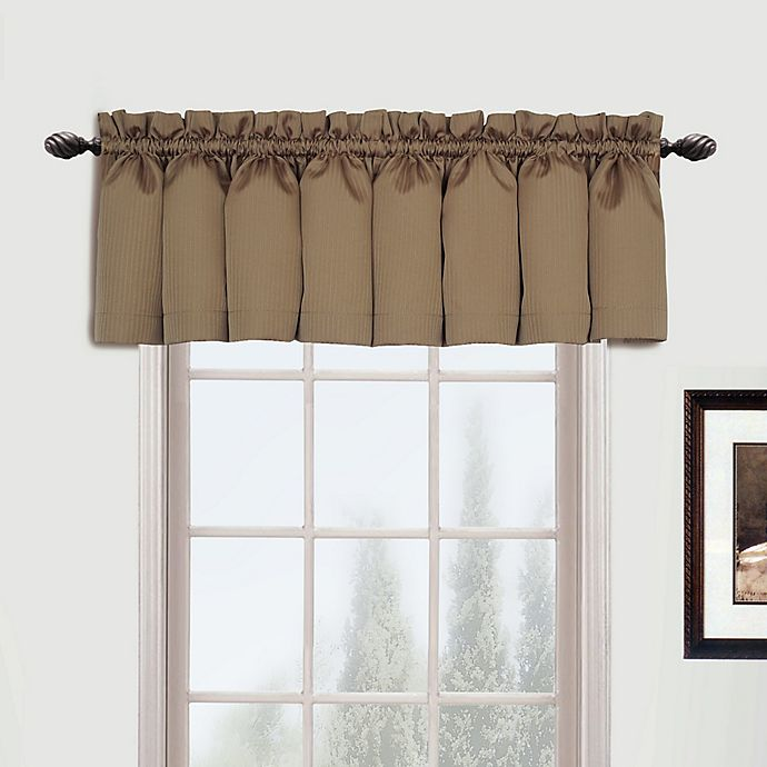 Alternate image 1 for Metro Straight Valance in Taupe