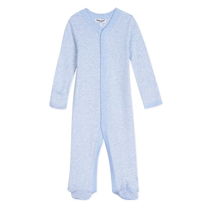 Alternate image 1 for Splendid Kids Striped Footed Coverall in Blue