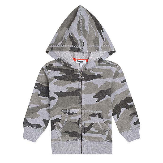 Alternate image 1 for Splendid Kids Camo Hoodie in Grey