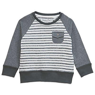 Sovereign Code™ Textured Stripe Sweater in Grey