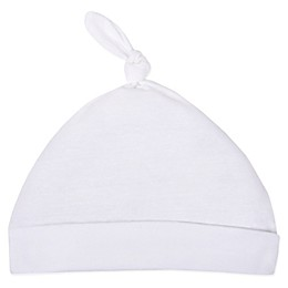 Lamaze® Infant Knot Beanie Cap in White