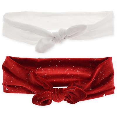 Capelli New York 2-Pack Solid and Velvet Glitter Headbands
