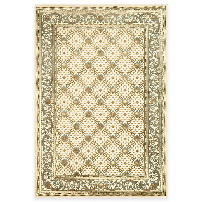 Alternate image 1 for Safavieh Paradise Collection Creme English Trellis Rugs