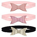 Capelli New York 3-Pack Infant Matte and Metallic Head Wraps
