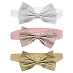Capelli New York 3-Pack Metallic Bow Headwraps