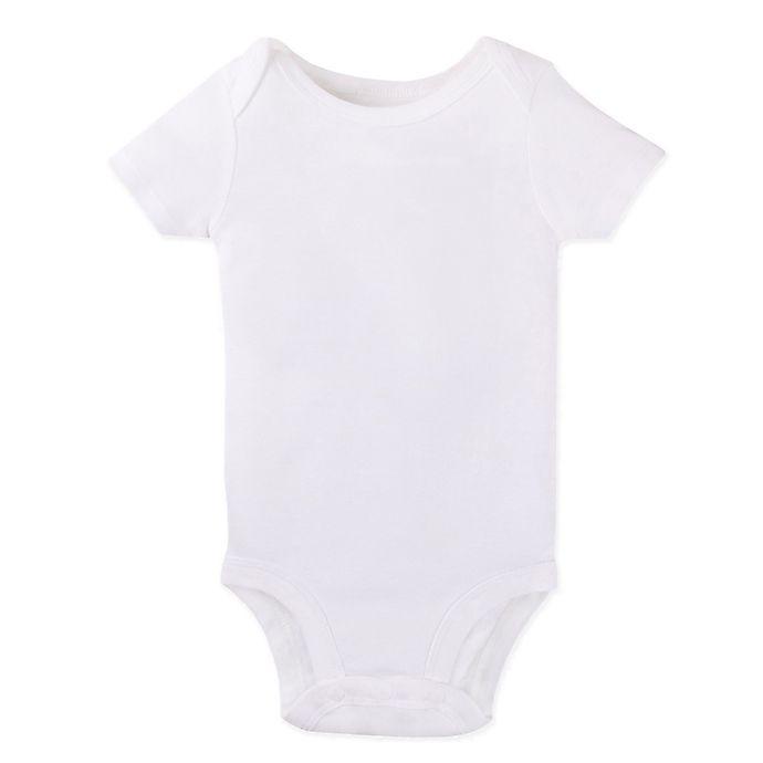 Alternate image 1 for Lamaze® Short-Sleeve Bodysuit in White