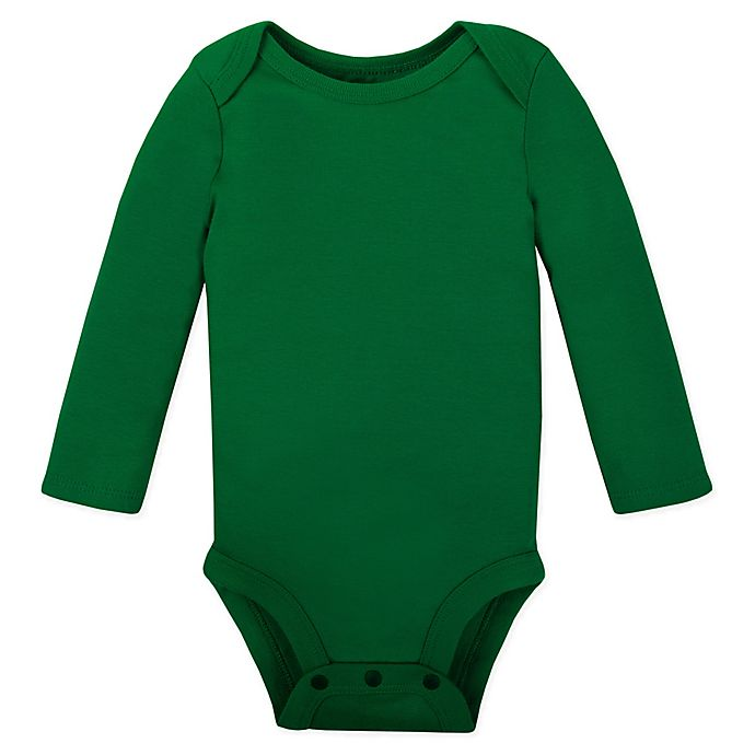 Alternate image 1 for Lamaze® Long-Sleeve Bodysuit in Green