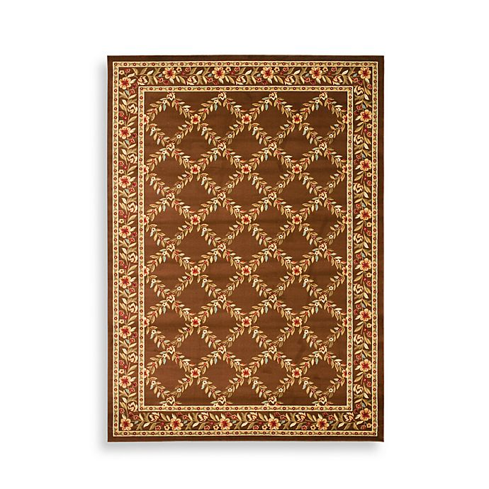 Alternate image 1 for Safavieh Lyndhurst Collection Feodore 8-Foot 9-Inch x 12-Foot Rectangle Rug in Brown