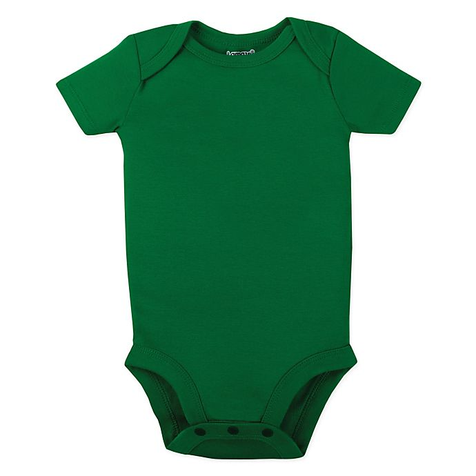 Alternate image 1 for Lamaze® Organic Cotton Short Sleeve Bodysuit in Green