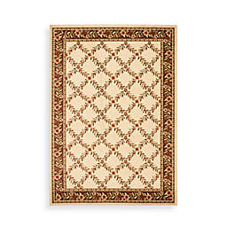 Safavieh Lyndhurst Collection Ivory and Brown Feodore Rugs