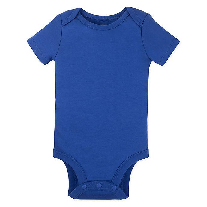 Alternate image 1 for Lamaze® Size 12M Organic Cotton Short Sleeve Bodysuit in Royal Blue
