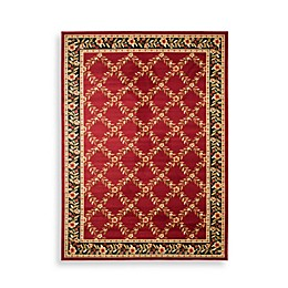 Safavieh Lyndhurst Collection Feodore Rug in Red and Black