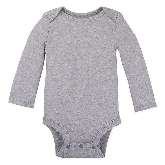 Alternate image 1 for Lamaze® Size 12M Organic Cotton Long Sleeve Bodysuit in Grey