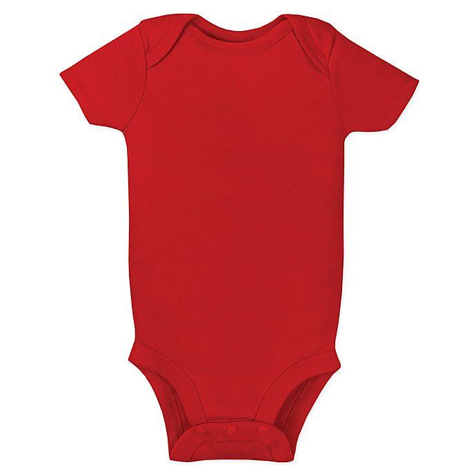 Alternate image 1 for Lamaze® Size 0-3M Organic Cotton Short Sleeve Bodysuit in Red