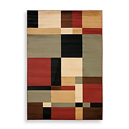 Safavieh Porcello Collection Griffith Rugs in Black/Multi