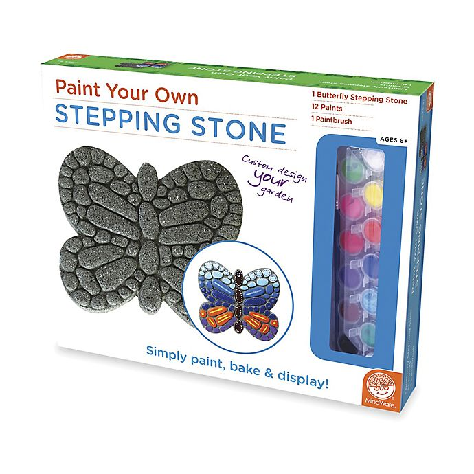Alternate image 1 for Mindware® Paint Your Own Butterfly Stepping Stone Kit