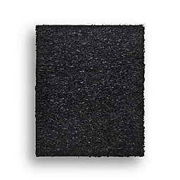 Safavieh Leather Shag 4-Foot Round Rug in Black