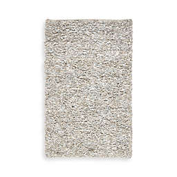 Safavieh White Leather Shag 5-Foot x 8-Foot Rectangle Rug